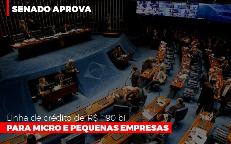 Senado Aprova Linha De Crédito De R$190 Bi Para Micro E Pequenas Empresas Notícias E Artigos Contábeis - Contabilidade na Barra da Tijuca