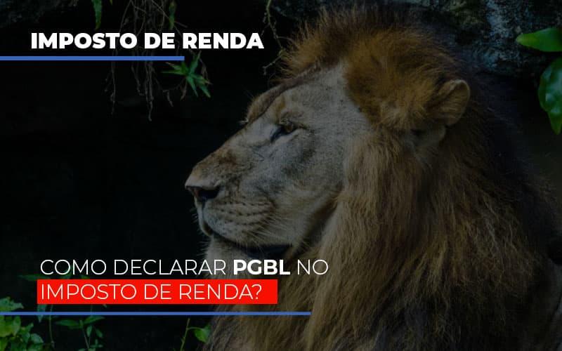 Ir2020:como Declarar Pgbl No Imposto De Renda Notícias E Artigos Contábeis - Contabilidade na Barra da Tijuca